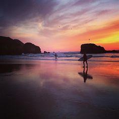 Lovely sunset tonight at Perranporth @W_hole_Cornwall  @CornishSunsets #Cornwall #sunset
