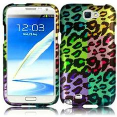 INSTEN For Samsung Galaxy S Note 2 N7100 Rubberized Design Case Colorful Leopard