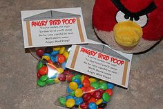 Angry Bird Poop!!!!   I love angry birds!  And I have a Mother in Law that needs to be pranked!  LOL