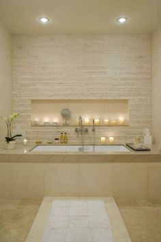 Recess for candles - Dream Spa-Style Bathroom 9