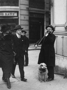 ♫ Violinist with dog ca.1933