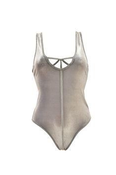 8efdf82b8f57f One Teaspoon Womens 14376A Swimwear Skinny & Slim Waxed Silver Size S  #fashion #