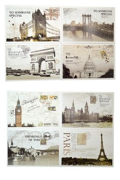 Amazon.com : Bonayuanda 36 PCS Retro Old Travel Postcards Vintage Landscape Photo Picture Poster Post Cards Greeting Cards for Worth Collecting 1 Set : Office Products