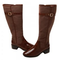 Low heel boot shoe for women, a dressy, fashion shoe in brown color by Annie at $79.00