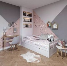 43 cute and girly bedroom decorating tips for girl 14 Girl Bedroom Designs Bedroom Cute Decorating Girl Girly tips Bedroom Decorating Tips, Decorating Ideas, Girl Bedroom Designs, Girls Room Design, Little Girl Rooms, Dream Rooms, Dream Bedroom, Home Decor, Girls Room Paint