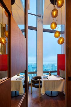 // Dramatically perched on the 51st floor of Andaz Tokyo Toranomon Hills the Andaz tavern is our main dining area, with floor-to-ceiling glass windows offering stunning views of the city over the Imperial Palace. #AndazTokyo