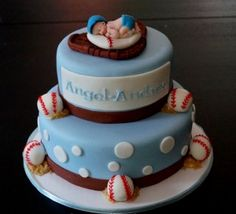 Baseball Baby Shower Cakes