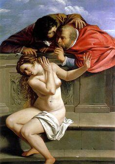 """Artemisia Gentileschi """"Susanna and The Elders"""" 1610 (Pommersfelden, Germany)"""