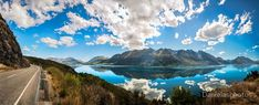 Famous Lookout at golden hour at Lake Wakatipu in New Zealand