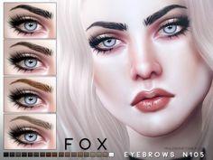 The Sims 4 najlepsze mody do gry: Brwi Fox od Pralinesims Sims 4 Cc Eyes, Sims 4 Mm Cc, Eyebrows, Eyeliner, Hair Mascara, The Sims 4 Skin, The Sims 4 Cabelos, Pelo Sims, Sims 4 Cc Makeup