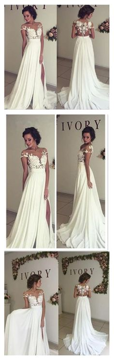 See through wedding dresses, Sexy lace prom dresses, Beach wedding gown, Prom dresses 2017, sexy prom dresses, 17105