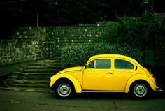 Classic yellow beetle-----Officially my dream car Beetle Bug, Vw Beetles, Vintage Hipster, Vintage Cars, My Dream Car, Dream Cars, Volkswagen, Yellow Car, Vw Cars