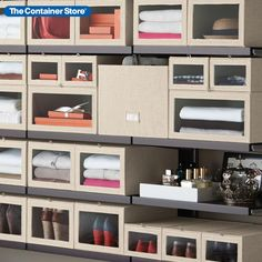Our Linen Cambridge Closet Storage Boxes and Bins are a beautiful way to keep your clothing organized. Shop the collection here.