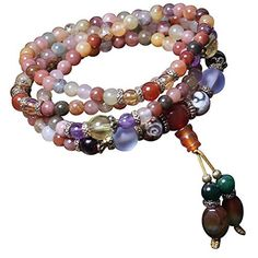 6mm Natural Colorful Crystal Quartz Beads Buddhist Prayer Mala Necklace Bracelet by Felix Perry -- Awesome products selected by Anna Churchill