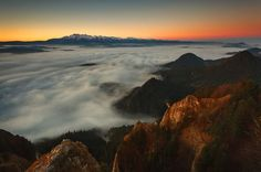 The view from Three Crowns peak, Poland.