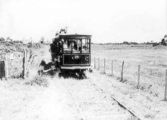 Bonde em Campo Grande, zona rural, em 1967, RJ