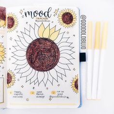 here is a quick little round-up of sunflower bullet journal page inspiration! Bullet Journal August, Bullet Journal Tracker, Agenda Bullet, Bullet Journal Cover Ideas, Bullet Journal Monthly Spread, Bullet Journal Notebook, Bullet Journal Entries, Bullet Journals, Journal Inspiration