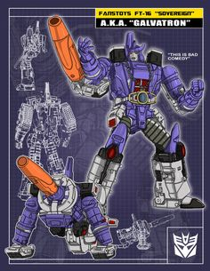 FansToys Sovereign (Galvatron) by on DeviantArt Transformers Decepticons, Transformers Characters, Transformers Masterpiece, Transformers Optimus Prime, 90s Cartoons, Classic Cartoons, Geek Culture, Geek Stuff, Trapper Keeper