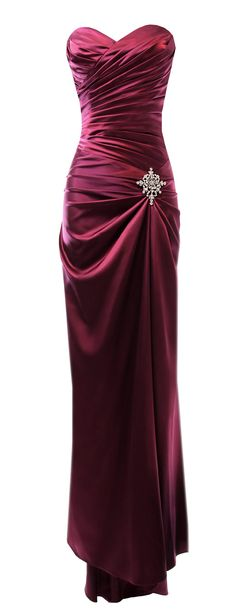 Strapless Long Satin Bandage Gown Bridesmaid Dress Prom Formal Crystal Pin  Yep. I'm doing my daydreaming and love this gorgeous gown. Comes in lots of colors and sizes up to 3X Plus!