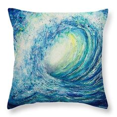 ***Please NOTE- orders placed after 12/15 will NOT arrive in time for Christmas.*** ~ Blue Wave Throw Pillow ~ These throw pillows have my