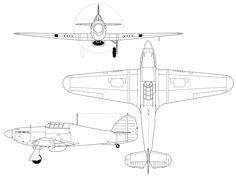 Hurricane Drawing, Hawker Hurricane, Battle Of Britain, Vinyl Decals, Aircraft, Blue Prints, Air Planes, Cutaway, Wikimedia Commons