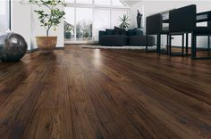 Stunning range of high quality and thick laminate oak effect flooring in natural, light or dark colours. Walnut Laminate Flooring, Walnut Floors, Wood Flooring, Real Wood Floors, Hardwood Floors, Brazilian Cherry Floors, Industrial Home Design, Flooring Store, Gold Wood