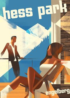 Poster for a resort in Engelberg, Switzerland.