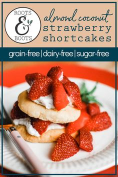 These delightfully easy Almond Coconut Paleo Strawberry Shortcakes are simple and delicious! A food processor makes quick work of 8 simple ingredients to produce a ball of delicious shortcake dough. Turn it into cookies or bars and top with strawberries and coconut whipped cream and devour. They're egg-free, dairy-free, and grain-free. Woot! Get the recipe now. Paleo Dessert, Healthy Dessert Recipes, Paleo Recipes, Delicious Recipes, Real Food Recipes, Yummy Food, Gluten Free Recipes For Breakfast, Gluten Free Desserts, Grain Free