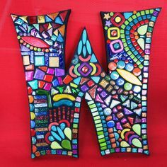 Custom Letters/Initials Created by Tina @ Wise Crackin' Mosaics