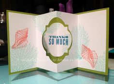 What a marvelous fun fold card by Robin! She use By the Tide and Oh Hello. Another great card on her blop post.