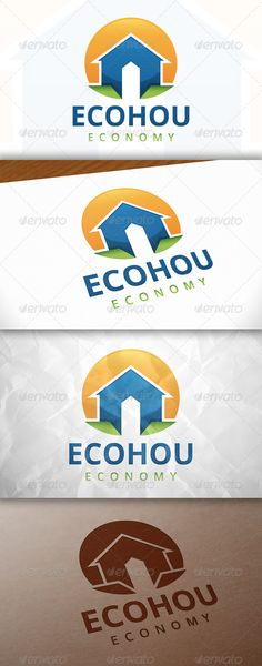 Eco House Logo Design Template Vector #logotype Download it here:  http://graphicriver.net/item/eco-house-logo-template/7857085?s_rank=501?ref=nexion