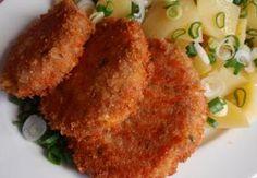 Šunkovo-sýrové karbanátky Hamburger, Pork, Food And Drink, Meat, Chicken, Breakfast, Recipes, Cooking, Food And Drinks