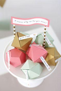 Geodesic Treat Boxes Diy Geschenke Verpacken Selber Machen Selbstgemachte