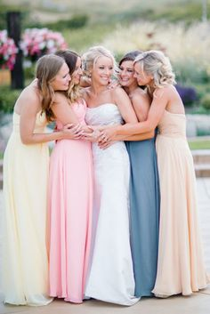 Bridesmaids and their Bride | Clane Gessel Photography | #weddings #bridesmaids #dresses