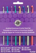 Anodized Aluminum Crochet Hook Set by Loops