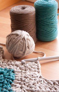 Crochet Rug With T-Shirt Yarn - Chart ❥ 4U // hf