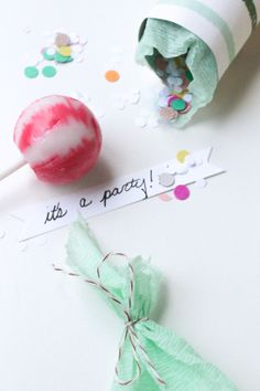 DIY Confetti Party Poppers to Celebrate the New Year
