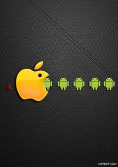 fascinante foto android vs apple