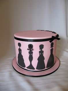 Bridal Shower Silhouette Cake