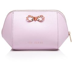 Ted Baker Ammi Small Trapeze Cosmetic Case ($64) ❤ liked on Polyvore featuring beauty products, beauty accessories, bags & cases, pale pink, ted baker, makeup bag case, travel bag, wash bag and travel kit