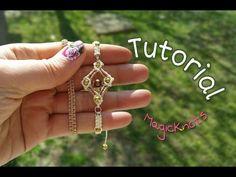 Micro Macrame Square Bracelet ♥ DIY ♥ - YouTube