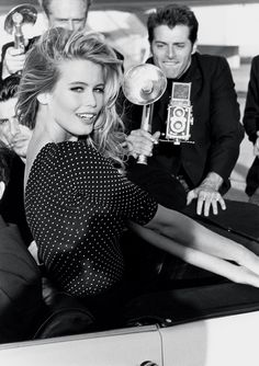 One of the original GUESS girls!  Claudia Schiffer, 1989 #GUESS #GUESSGirl