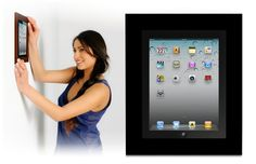 iPad wall mount low-profile frame for watching TV, looking at recipes etc in the kitchen..
