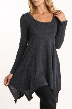 Ariella Fuzzy Sweater Dress In Charcoal.I relly like this casual look.Ultimately comfortable