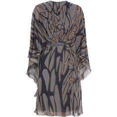 ELIE SAAB Printed Kaftan Dress (€2.885) ❤ liked on Polyvore featuring dresses, vestidos, платья, elie saab, elie saab dresses, evening dresses, kaftan dresses and kaftan evening dress