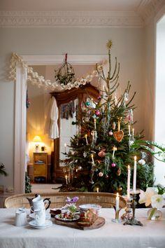 A silver Christmas decoration - HomeCNB Magical Christmas, Christmas Mood, Noel Christmas, Merry Little Christmas, Vintage Christmas, Xmas, Bohemian Christmas, Christmas Mantles, Victorian Christmas