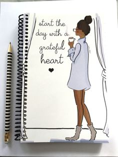 Gratitude Journal  Start the Day with a by RoseHillDesignStudio