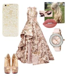 """Untitled #148"" by xox-calumsgxrl on Polyvore featuring Monique Lhuillier, Christian Louboutin, Lime Crime, Forever 21 and Ted Baker"