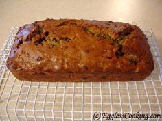 eggless chocolate chip zucchini bread