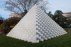 Sol LeWitt, Four-Sided Pyramid (1965), National Gallery of Art, Washington